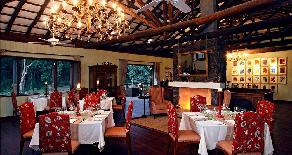 Restaurant, Samode Safari Lodge, Bandhavgarh, Indien Rundreise