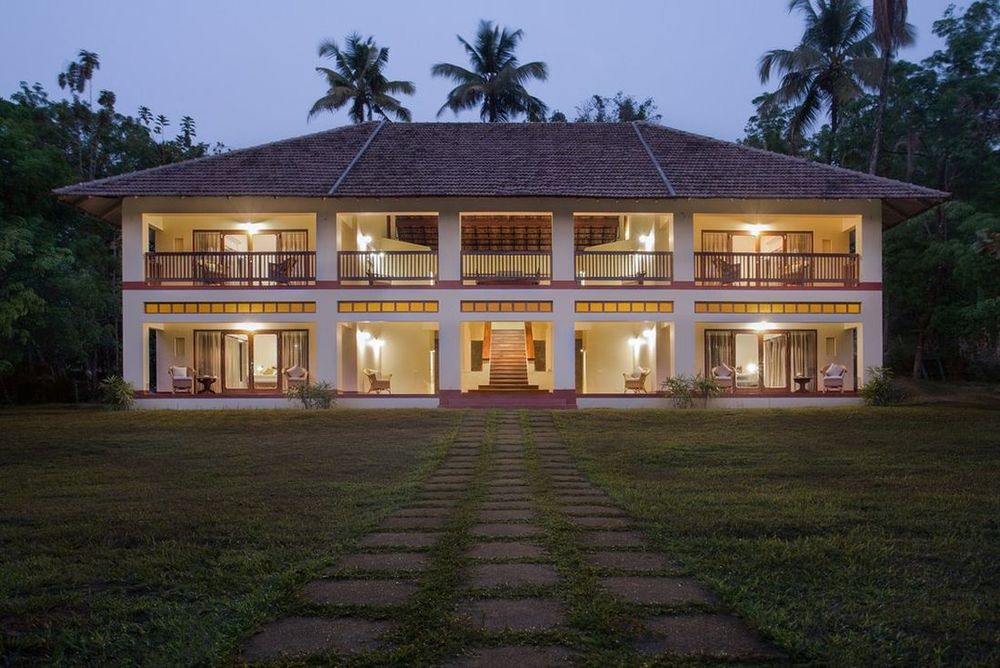 Aussenansicht, Windmere River House, Hotel, Slow Travel, Kerala, Indien Rundreise