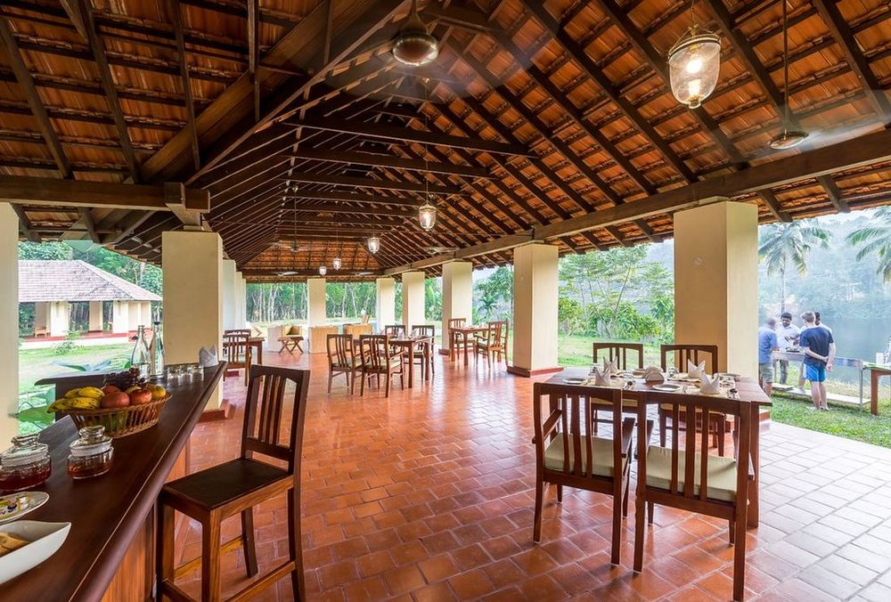 Restaurant, Windmere River House, Hotel, Slow Travel, Kerala, Indien Rundreise